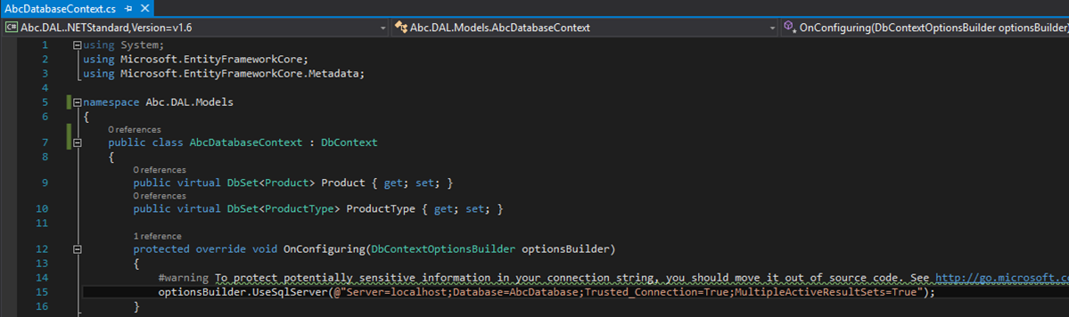 DBContext in DAL