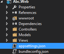 appsettings.json in Web