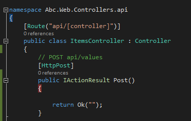 post method in controller